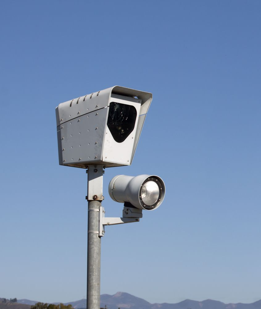 Speeding violations can be caught by either an officer or a camera.